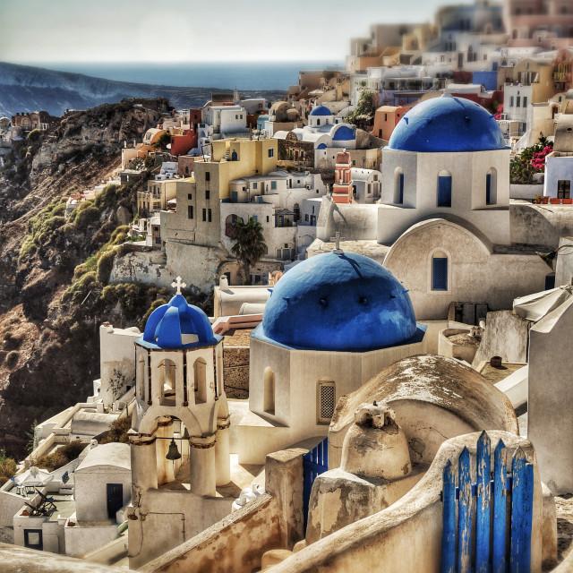 """Oia, Santorini"" stock image"