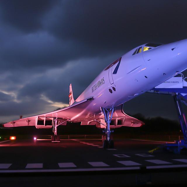 """""""Spirit of Concorde"""" stock image"""