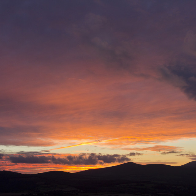 """Sunset, Co. Wicklow"" stock image"