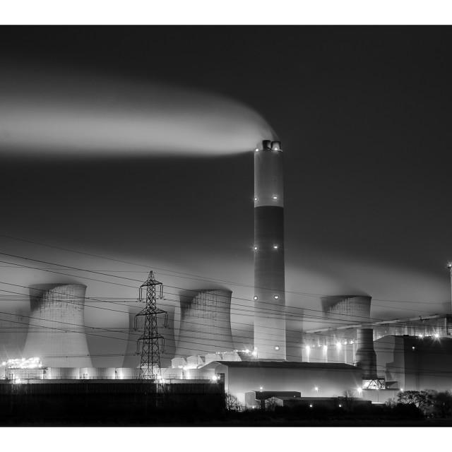 """EDF Cottam Power station"" stock image"