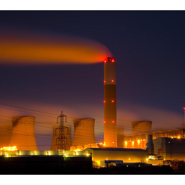 """""""EDF Cottam"""" stock image"""