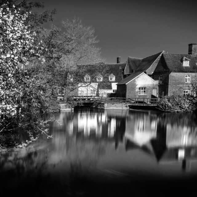 """""""Reflections of Flatford Mill"""" stock image"""