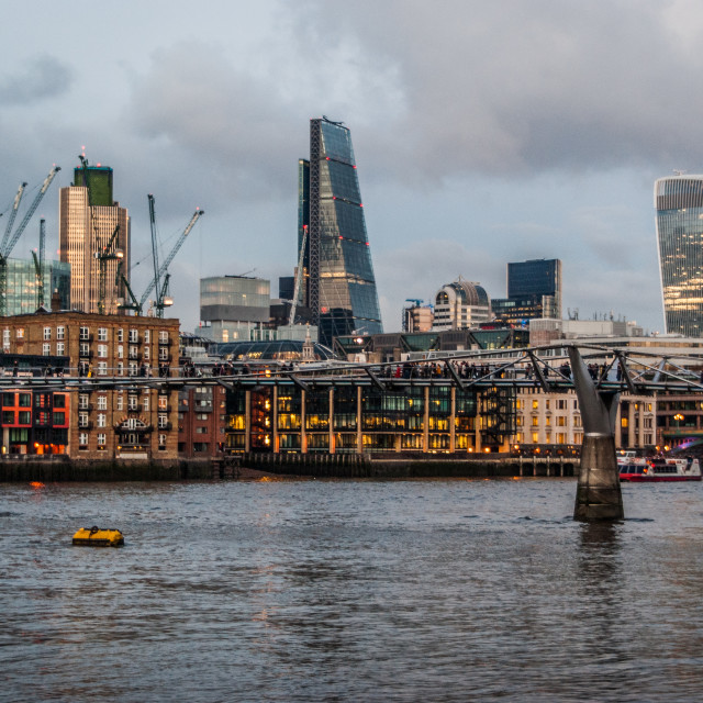 """""""London skyline dusk"""" stock image"""