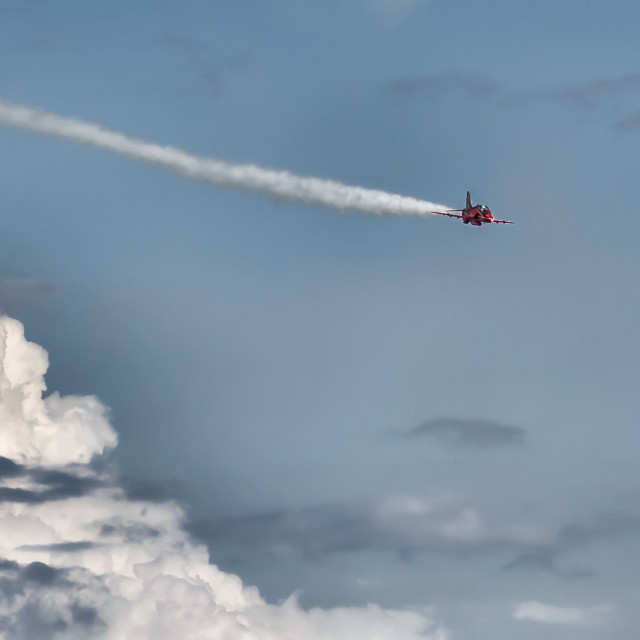"""""""Incoming Red Arrow at Maximum Speed"""" stock image"""