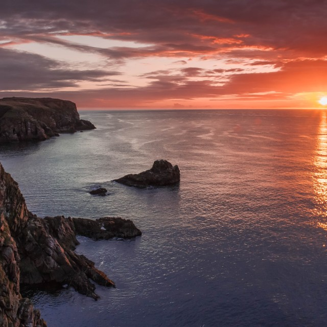 """Sunrise in Scotland"" stock image"