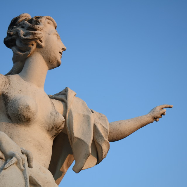 """""""18th Century Statue of Woman at Belvedere Palace, Vienna"""" stock image"""