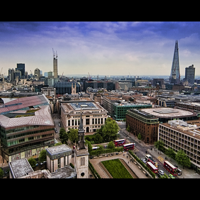 """The Shard from St. Paul's"" stock image"
