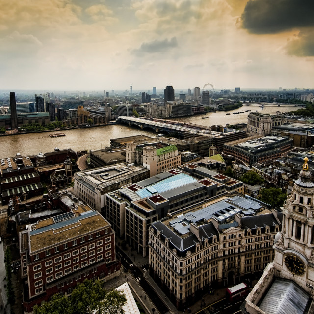 """St.Paul's view 1"" stock image"