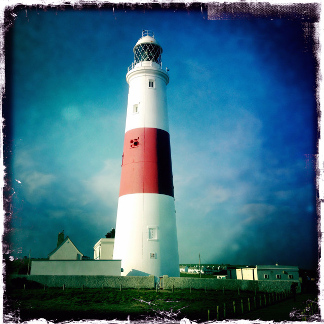 """Portland Bill Lighthouse"" stock image"
