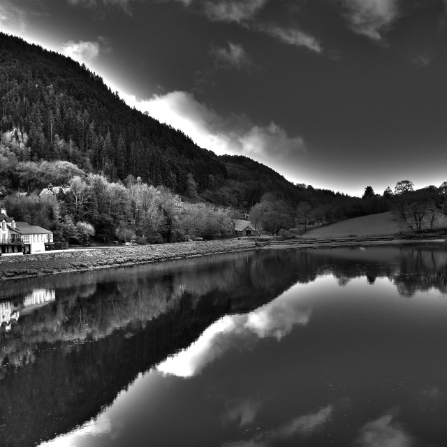 """Morning over the Mawddach river estuary"" stock image"