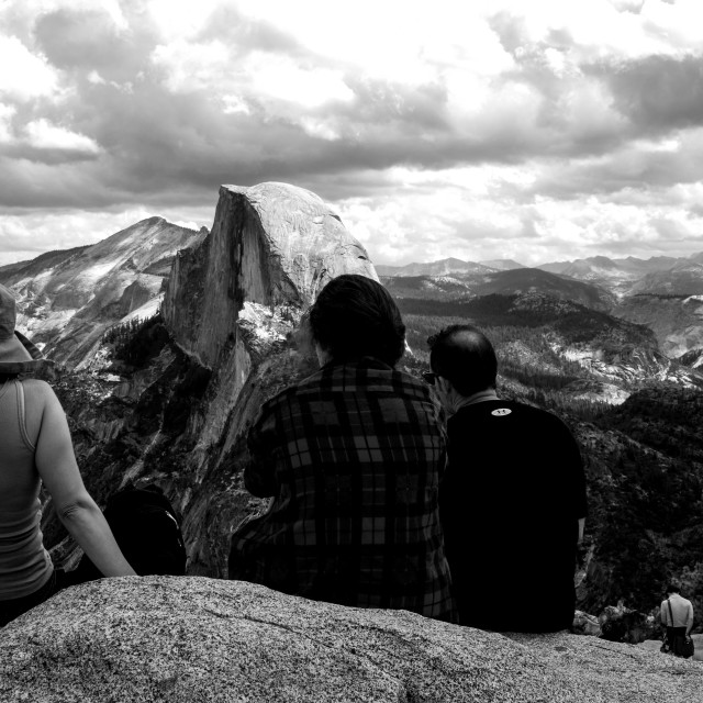 """Half Dome, B + W"" stock image"