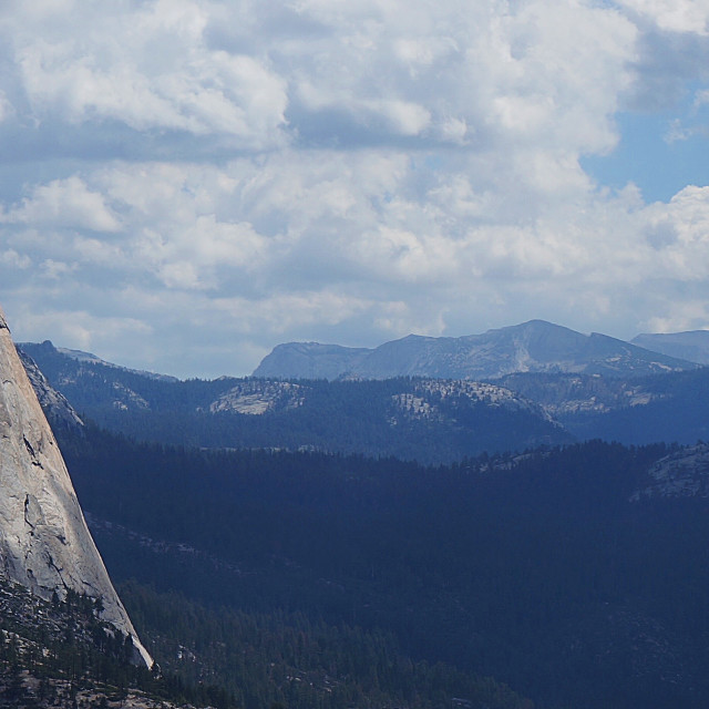 """Half Dome, Panoramic"" stock image"