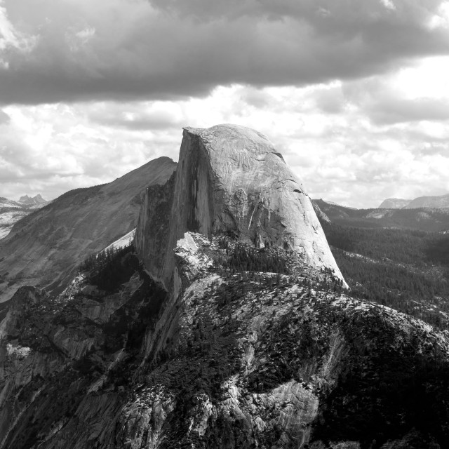 """Half Dome (B+W)"" stock image"