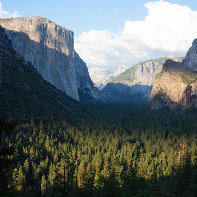 """Tunnel View, Yosemite"" stock image"