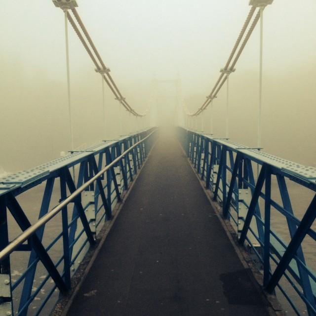 """""""Bridge to Teddington"""" stock image"""