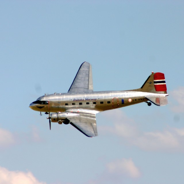 """""""Douglas DC-3 LN-WND"""" stock image"""