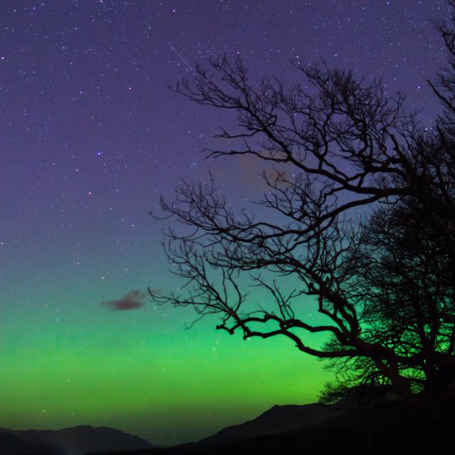 """shooting star over loch lomond"" stock image"