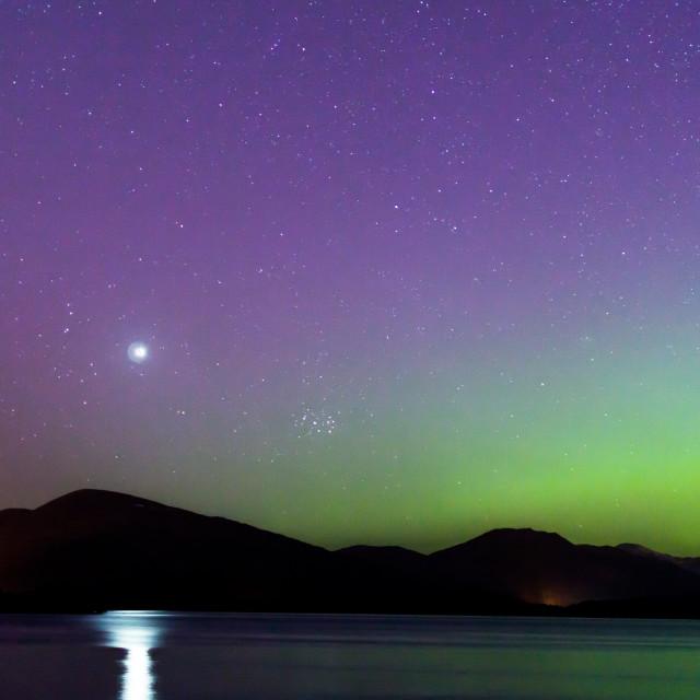 """stars over loch lomond"" stock image"