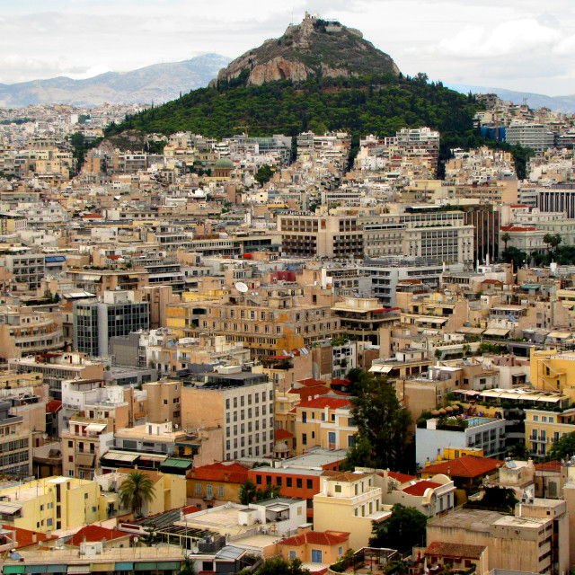 """View of Athens, Greece from Acropolis"" stock image"