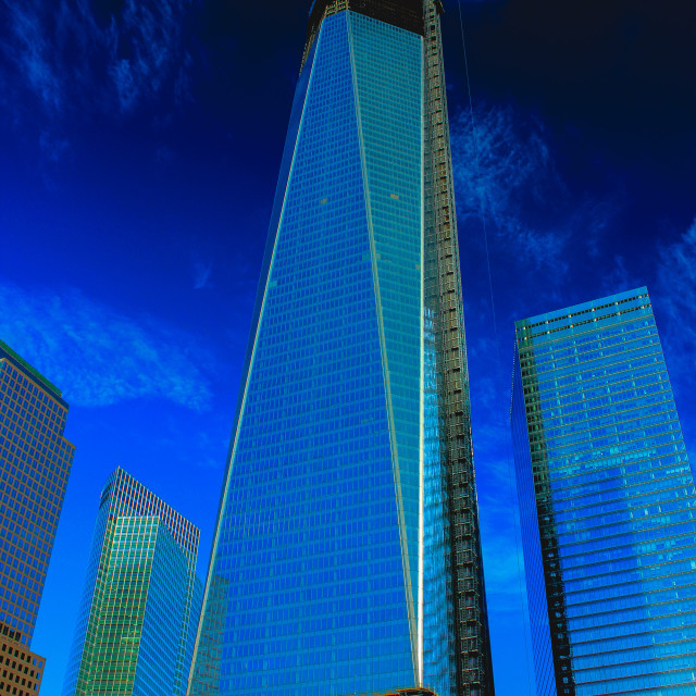 """One World Trade Center During Construction"" stock image"