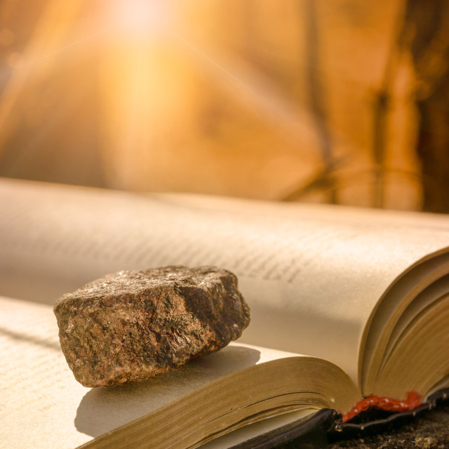 """Stone on a Book"" stock image"