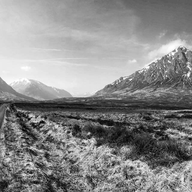 """Glen Etive, Scotland"" stock image"