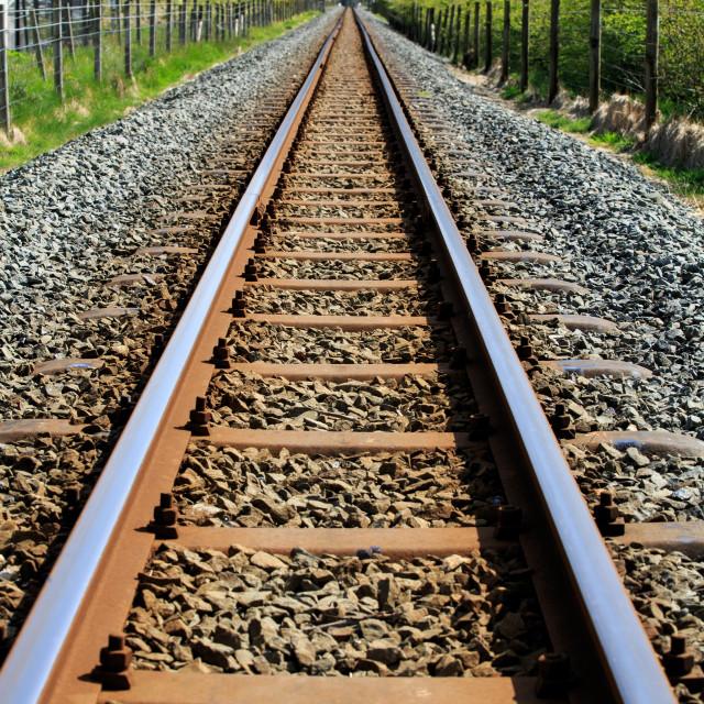 """Railway train track"" stock image"