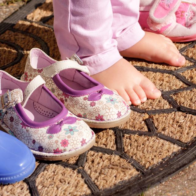 """""""Little bare feet"""" stock image"""