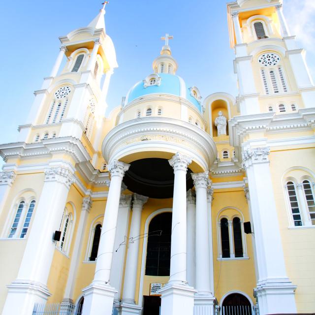 """Church in Ilheus"" stock image"