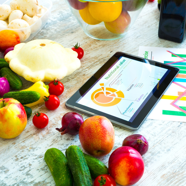 """Healthy nutrition and Software guidance"" stock image"