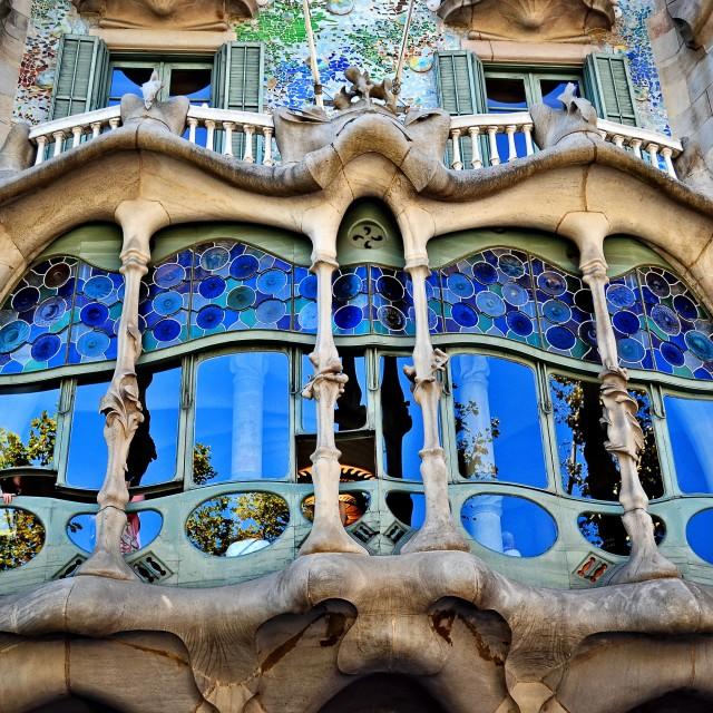 """Casa Batlló, Antoni Gaudí"" stock image"