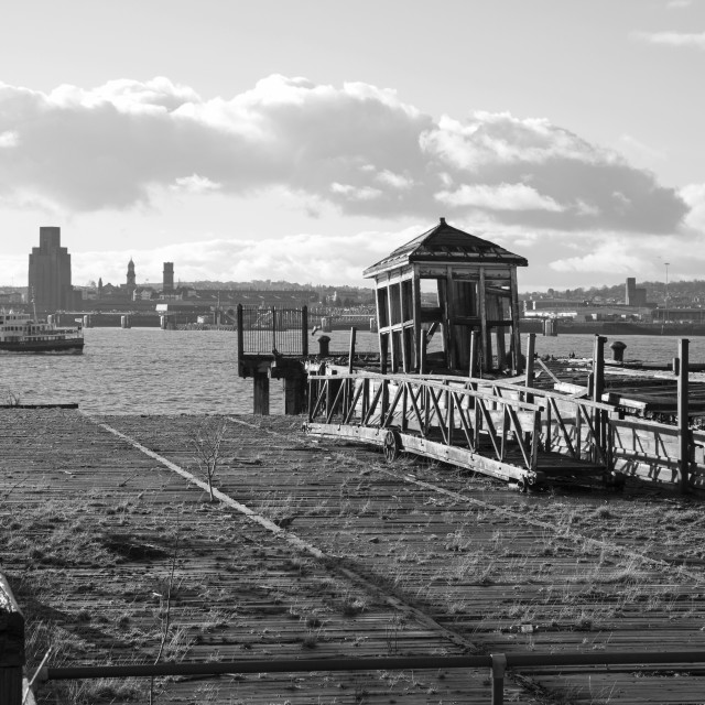 """""""The Old Pilot Station, Pier Head"""" stock image"""