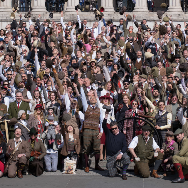 """The 2015 Tweed Run"" stock image"