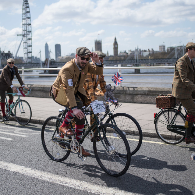 """Waterloo Bridge, Tweed Run"" stock image"
