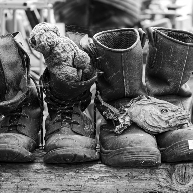"""Fishermans Boots"" stock image"