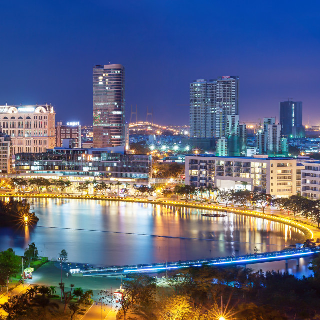 """Panorama of Saigon Skyline - Phu My Hung"" stock image"