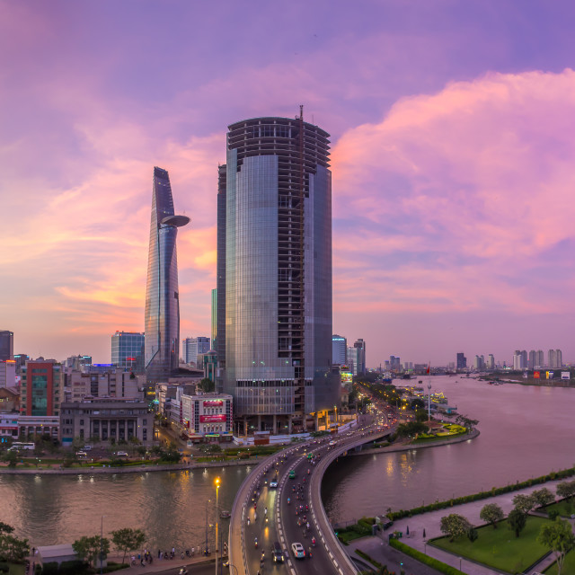 """Panorama of Saigon Skyline - Ho Chi Minh City"" stock image"