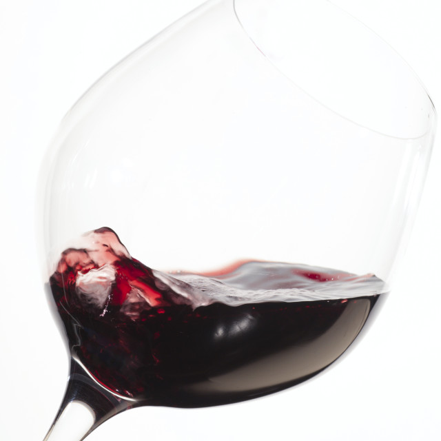 """Glass of Red Wine"" stock image"