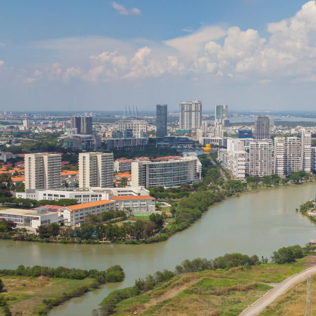 """aerial view of Ho Chi Minh City East Phu My Hung"" stock image"