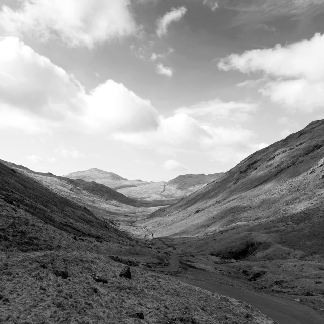 """Hardknott Pass, Cumbria"" stock image"