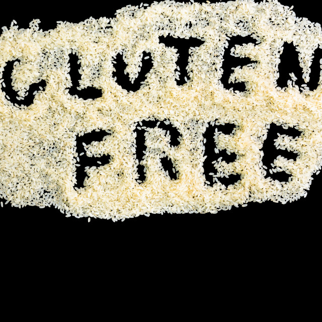 """""""Gluten free and rice"""" stock image"""
