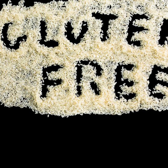 """rice and written gluten free"" stock image"