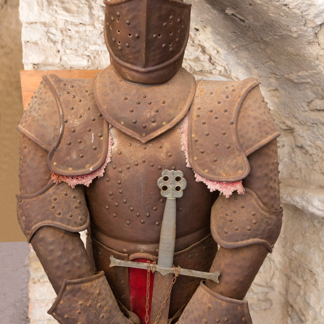 """""""old rusty armor"""" stock image"""