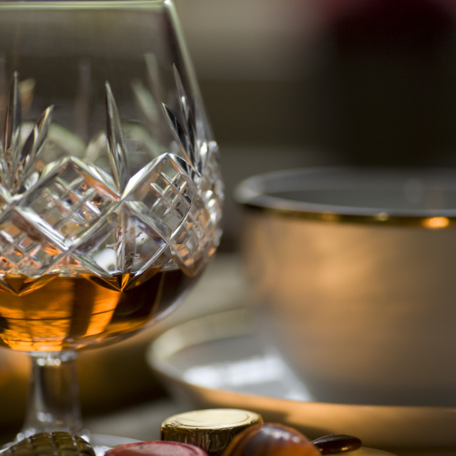 """Cognac, Coffee & Chocolate"" stock image"