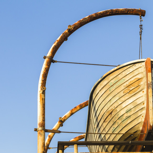 """Ship Wooden Rescue Boat"" stock image"