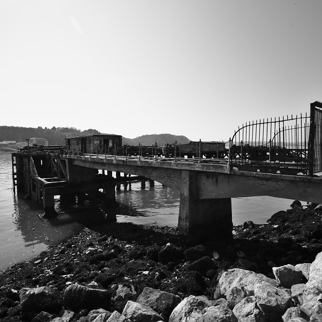 """Old Concrete Pier"" stock image"