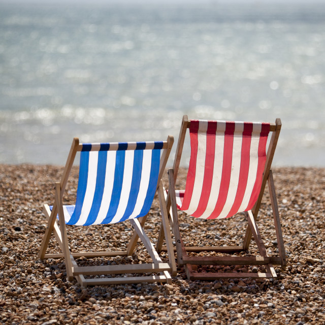 """Deck Chairs"" stock image"