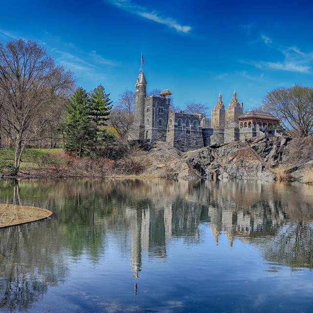 """""""Belvedere Castle and Turtle Pond"""" stock image"""