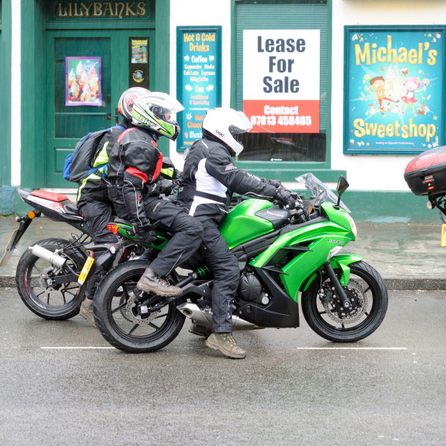 """Matlock Bath Bikers Derbyshire ."" stock image"