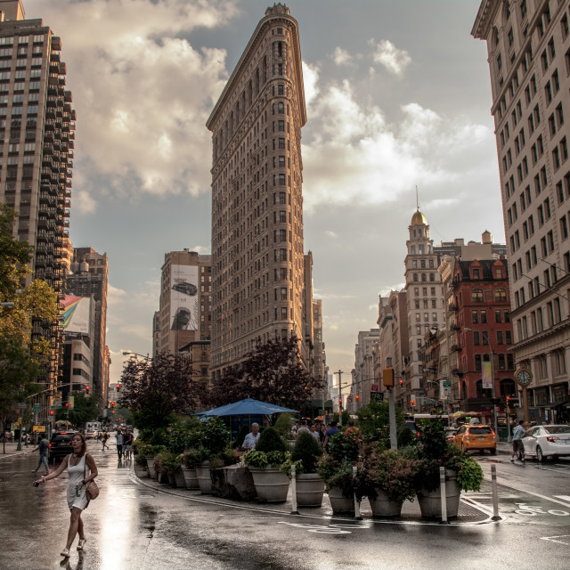 """Flatiron Building New York City"" stock image"